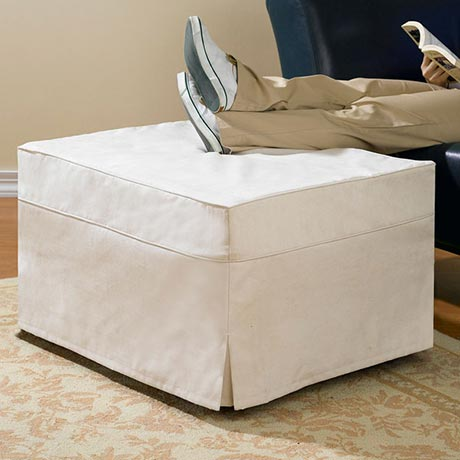 hide a bed ottoman slip cover at support plus fd6722. Black Bedroom Furniture Sets. Home Design Ideas