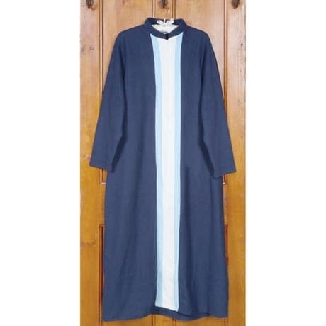 Zip-Front Tri-Color Robe