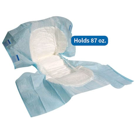 Unique Wellness Disposable Tab Closure Incontinence Briefs (18 Count)