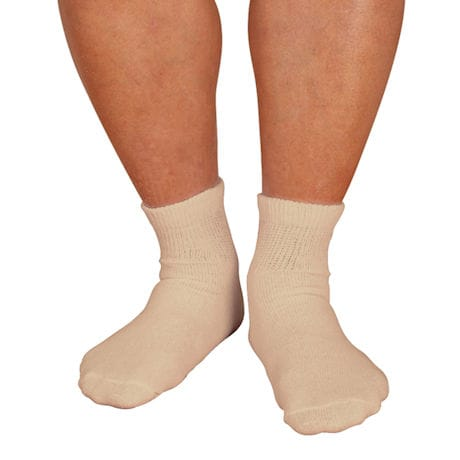 Men's Wide Calf Diabetic Quarter Crew Socks
