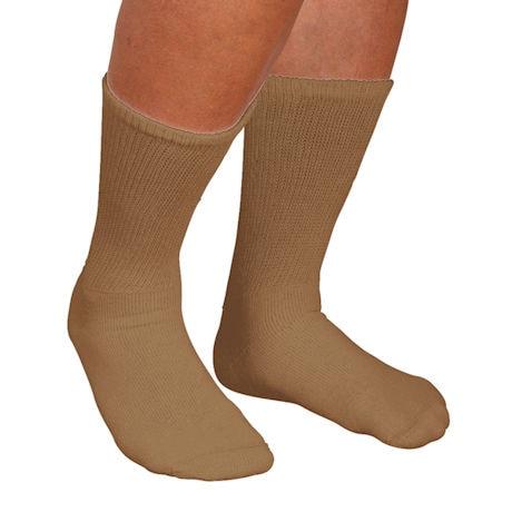 Men's Wide Calf Crew Socks - 3 Pack