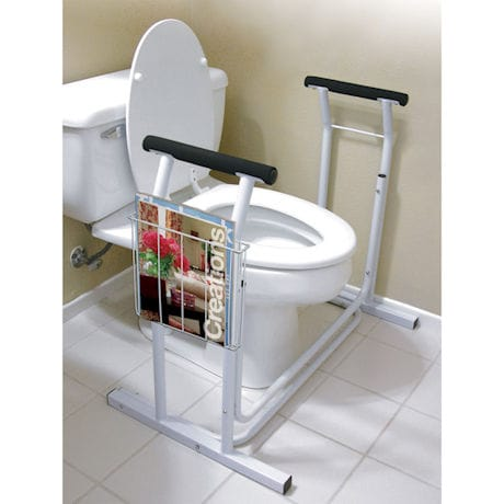Toilet Safety Frame Support with Padded Handrails - Supports up to 300 lbs.