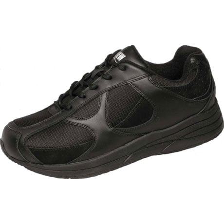Drew® Surge Shoes for Men - Black Leather/Nubuck/Mesh