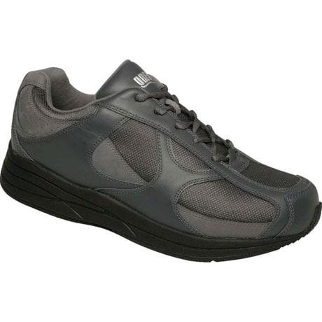 Drew® Surge Shoes for Men - Grey Leather/Nubuck/Mesh