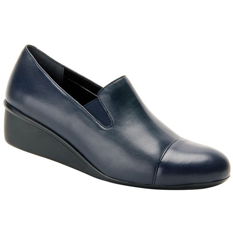 Ros Hommerson® Ellis Wedge Slip-On Dress Shoes - Navy