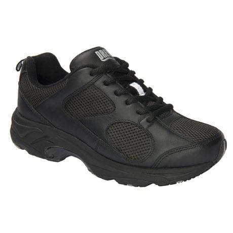 Drew® Flash II Women's Walking Shoes - Black Leather/Black Mesh