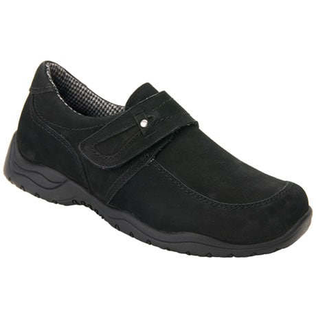 Drew®  Antwerp Women's Slip-On Shoes-Black Nubuck
