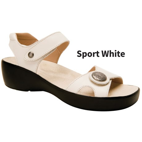 Drew® Andi Sport White Leather Shoe