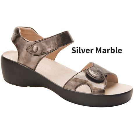 Drew® Andi Silver Marble Leather Shoe