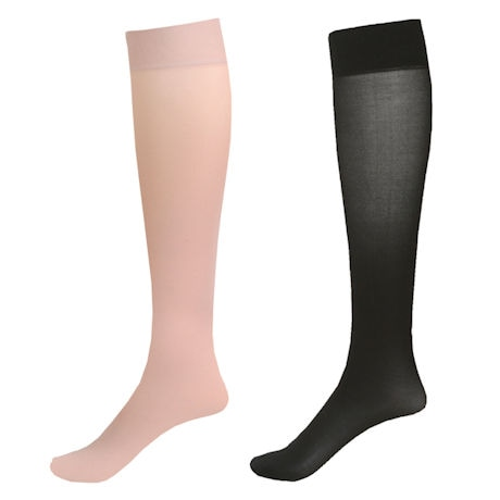 a1e2b897b Mild Support 2 Pair Knee High Trouser Socks with 8-15 mmHg Compression ...