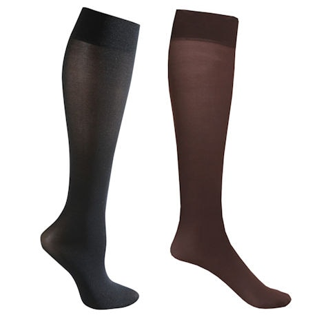 Celeste Stein® Opaque Closed Toe Mild Compression Trouser Socks - 2 Pack
