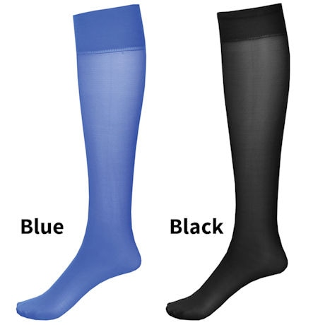 Moderate Compression 2 Pair Knee Highs - Wide Calf