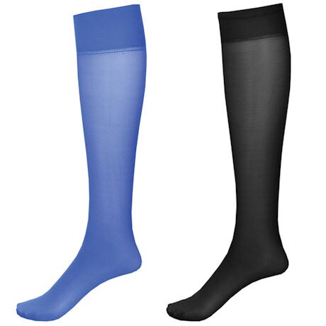 Mild Support 2 Pair Knee High Trouser Socks with 8-15 mmHg Compression