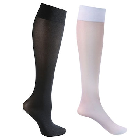 Celeste Stein® Opaque Closed Toe Wide Calf Mild Compression Trouser Socks - 2 Pack