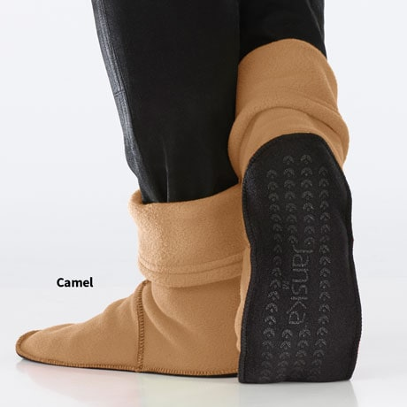 Janska® MocSocks® Unisex Non-Skid Sole Slipper Socks - Camel