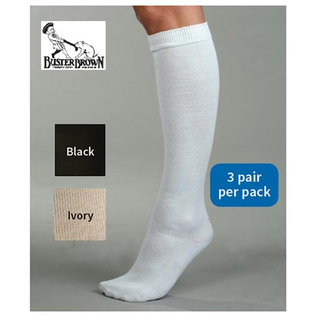 Buster Brown® Non-Allergenic Knee High Socks - Women's (3 Pair Pack)