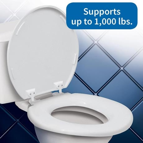 Bariatric Extra Wide Toilet Seat - Supports up to 1,000 lbs.