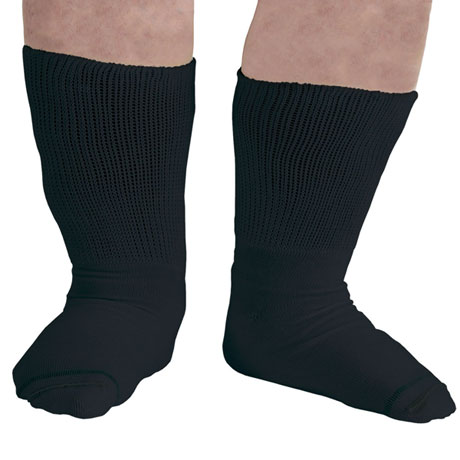 Men's Extra Wide Calf Bariatric Diabetic Crew Socks -3 Pack