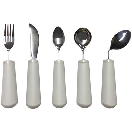 Adaptive Eating Utensils - Fork, Knife, Teaspoon, or Soup Spoon