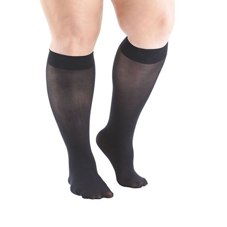 Support Plus® Womens Opaque Closed Toe Wide Calf Trouser Socks - 3 Pack