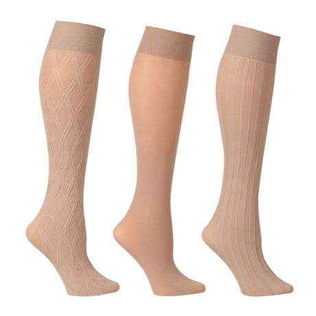 Support Plus® Women's Opaque Closed Toe Wide Calf Trouser Socks - 3 Pack
