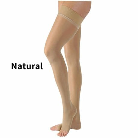 Jobst® Relief Women's Opaque Open Toe Moderate Compression Thigh High Stockings