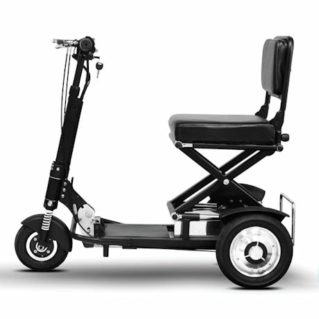 ewheels speedy folding portable scooter 3 wheeled mobility aid at support plus ff5672. Black Bedroom Furniture Sets. Home Design Ideas