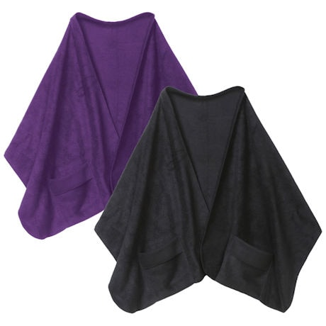 Fleece Shawl Kit Black And Purple