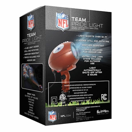 Nfl Team Logo Indoor Outdoor Projection Light At Support