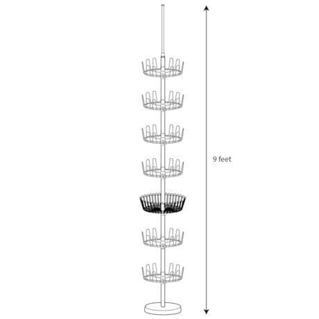 Floor-to-Ceiling Revolving Shoe Tree