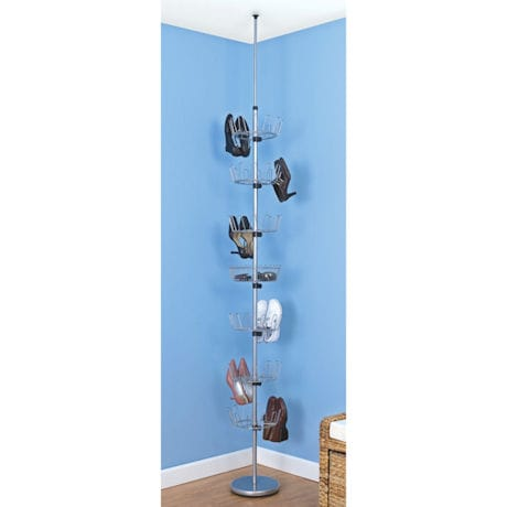 Floor-to-Ceiling Revolving Shoe Tree