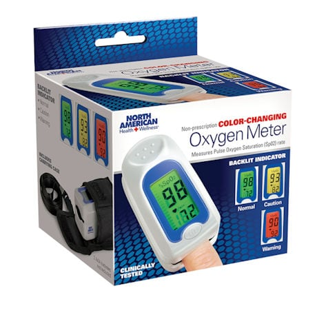 Color-Coded Oxygen Meter