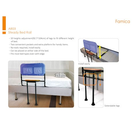 Bed Rail with Tray