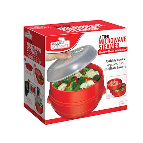 Handy Gourmet® 2-Tier Microwave Steamer