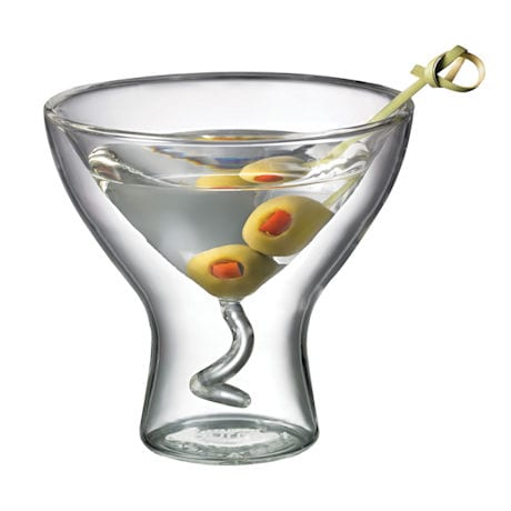 Double Wall Martini Glass - Set of 2