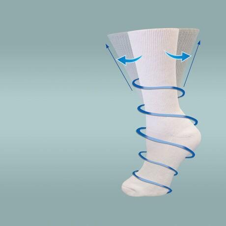 Unisex Diabetic Crew Socks with Gel Pad