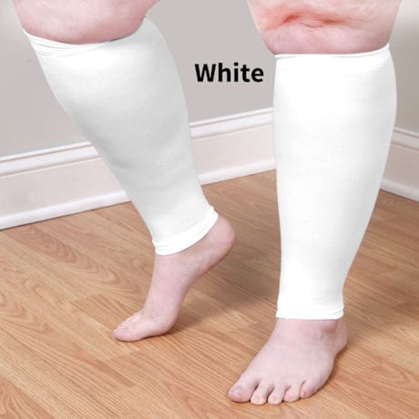 Opaque Open Toe Extra Wide Calf Moderate Compression Knee High Calf Sleeve