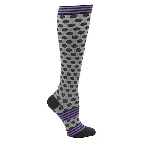 Women's  Closed Toe Mild Compression Knee High Fun Knit Socks