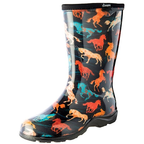 Womens Slogger Garden Boot Horse Spirit