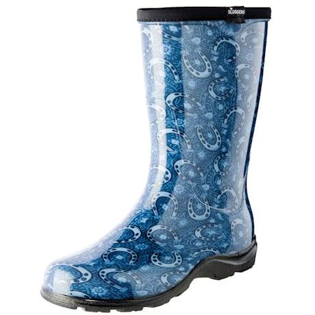 Womens Slogger Garden Boot Horseshoe Paisley