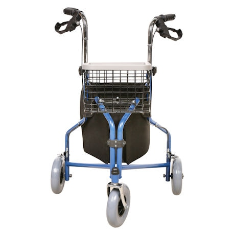 Support Plus® Deluxe 3 Wheel Rollator with Storage