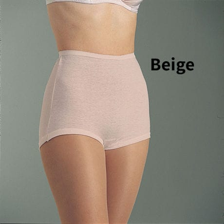 Cuff Leg Cotton Briefs 6 Pack Beige