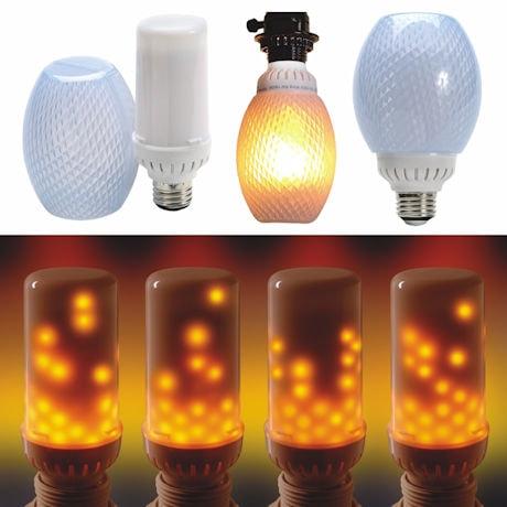LED Flickering Flame Effect Light Bulb - Bottom Mount