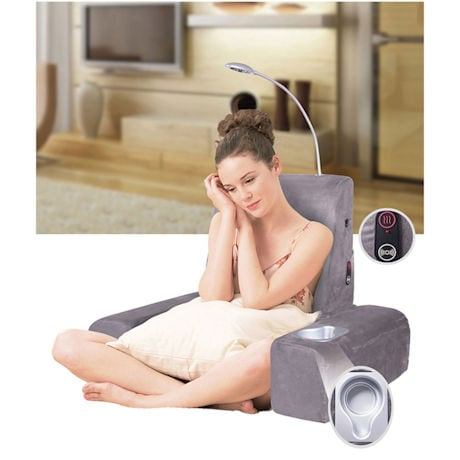 Carepeutic Backrest Bed Lounger w/Heated Comfort Massage Vibration