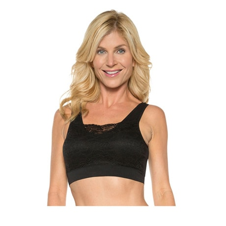 Rhonda Shear® Seamless Bra with Lace Overlay