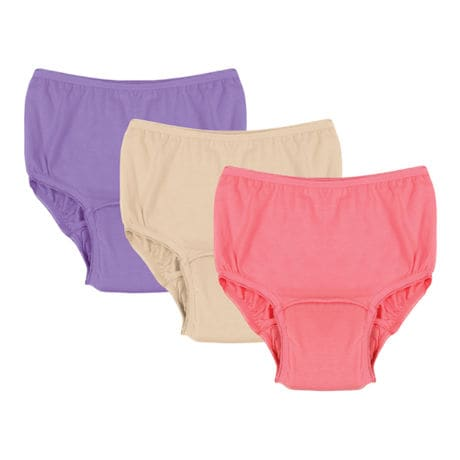 Colorful Women's Washable Cotton Incontinence Underwear 3 Pack