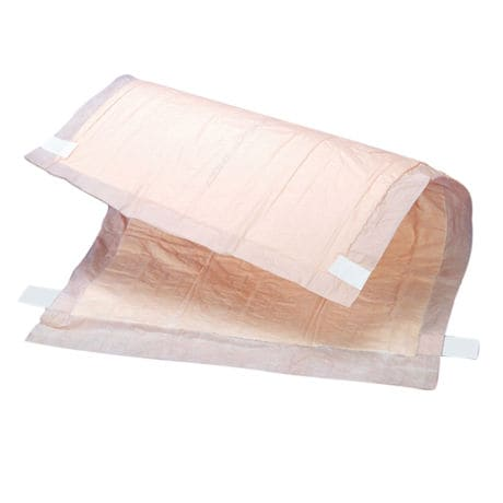 Peach Sheet Adhesive Incontinence Underpads 12pk