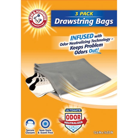 Arm & Hammer™ Set of 3 Odor Neutralizing Travel Bags