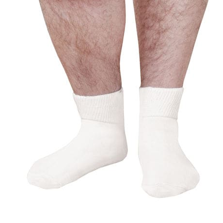 Unisex Wide Calf Bariatric Diabetic Quarter Crew Socks