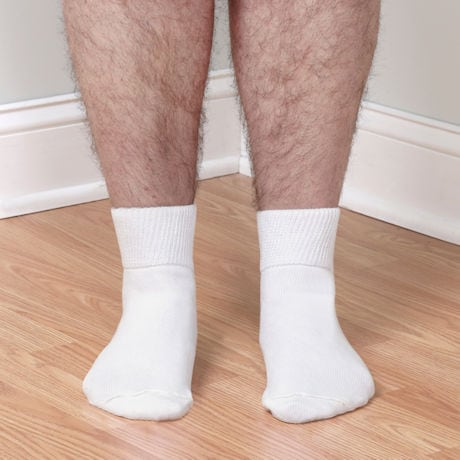 Unisex Wide Calf Bariatric Diabetic Quarter Crew Socks